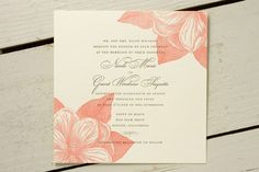 Magnolia blossom invitation