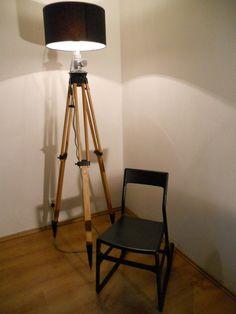 lampa podłogowa statyw drewniany LOFT UPCYCLING (4929659316) - Allegro.pl - Więcej niż aukcje.