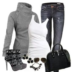 Top it off with heels, boots, or sneakers for versatile casual/chic look!