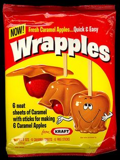 Take an apple. And a Wrapple. And a stick. Heat it quick. That's how you make, good caramel apples, with WRAPPLES...from Kraft!