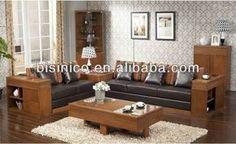 Relaxing Living Room Solid Wood Sofa Set,Southeast Asian Comfortable Living Room Furniture Set,L shaped Wooden Living Room Sofa,…