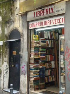 Book shop in Naples, Italy