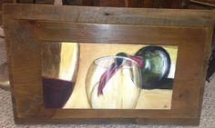 Wine Art - From My Hand To Yours ($75)