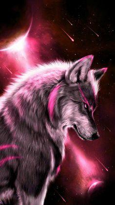 Fantasy wolf wallpaper by georgekev - 13 - Free on ZEDGE™ Tier Wallpaper, Wolf Wallpaper, Animal Wallpaper, Trendy Wallpaper, Wallpaper Pictures, Cool Wallpapers Dark, Beautiful Wallpaper, Galaxy Wallpaper, Wolf Love