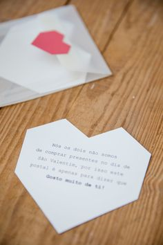 Gosto Muito de Ti! - Momentos com Design Place Cards, Place Card Holders, Cards Against Humanity, Day, Design, Saint Valentine, Information Technology, Gifts, Amor