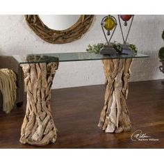 "Uttermost - Teak Root, Console Table 54""x34""x18"""