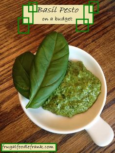 Pesto on a Budget | Frugal Foodie Frank
