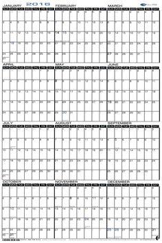 24 x 36 large wet erase yearly 2017 wall calendar laminated horizontal. Black Bedroom Furniture Sets. Home Design Ideas