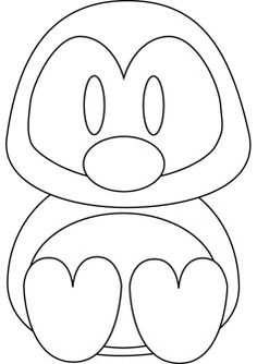 Cute Coloring Pages for Girls  Cute baby penguin coloring pages