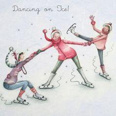 Dancing on Ice , Ladies Who Love Life ... Berni Parker funny cute art