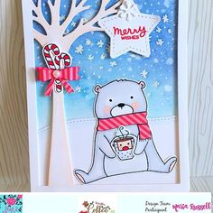 """Beary Christmas"" stamp set and dies by Neat"