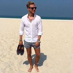 Cool 41 Trending Shorts Summer Outfits for Men https://clothme.net/2018/02/22/41-trending-shorts-summer-outfits-men/