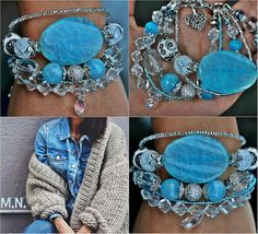 ❄️MarinaNikitina #fashionjewelry #bracelet #handmade #naturalstone