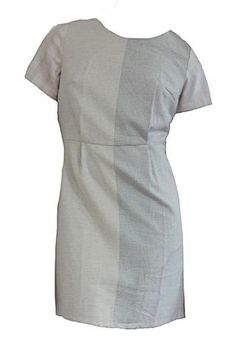 ReBirth Short Sleeve Shift Dress in Two Tone