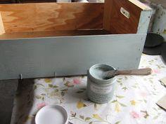 Momentos Vintage: Finde frugal .....decorando una caja de la verduleria