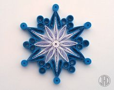 Quilled Snowflakes, Quilling Paper Art, Christmas Tree Decor Topper, Mandala Wall Art Ornaments, Wedding Handmade Apartment Decorations Gift This listing is for Origami And Quilling, Quilled Paper Art, Paper Quilling Designs, Quilling Paper Craft, Paper Crafts Origami, Quilling Patterns, Quilling Christmas, Christmas Crafts, Christmas Tree