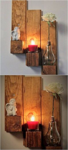 This pallet candle stand has been dramatically arranged in designing concepts with the wood pallet use. This candle stand creation has been on the whole designed out in the custom simple designing which will add a beauty impact in your house beauty areas. Make it part of your house right now!