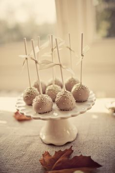 Autumn Table Cake Pops by   Mrs Bou The Boutique Baking company photo by anna clarke