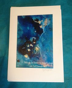 Christian Greeting Card Photographic Print Blank Hand Made Card suitable for Baptism, Birthday or Special Occasion
