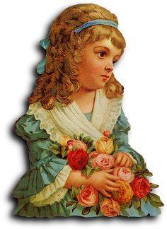 Victorian scrap: Girl | Flickr - Photo Sharing!