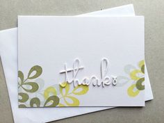 Card by SPARKS DT Angeline Yong PS stamp set: Leafy Greens; PS dies: Thanks Word