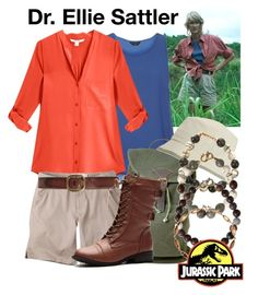 """Dr. Ellie Sattler - Jurassic Park"" by snakeinmyboots ❤ liked on Polyvore featuring Dorothy Perkins, Diane Von Furstenberg, Mountain Khakis, United by Blue, Dolce&Gabbana and Monique Péan"