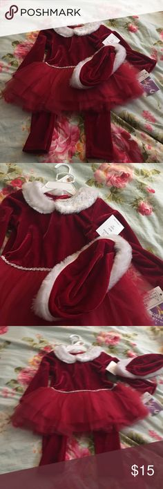 Christmas is coming! Christmas is coming! Velvet Red Holiday Outfit, comes with hat!  New with tags; never warn! Blueberi Boulevard Dresses
