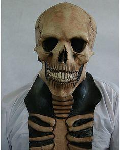 Skeleton With Neck Mask - Spirithalloween.com