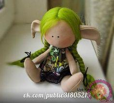 Кукла Эльф - японская кукла - ВЫКРОЙКА - ТИЛЬДА