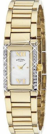 Rotary Womens Quartz Watch with Mother of Pearl Dial Analogue Display and Gold Stainless Steel Bracelet LB0 The Ladies Sabrina Gold Plated Watch LB02423-41 is a great example of the Rotary watch range. You can buy with confidence that your LB02423-41 Ladi