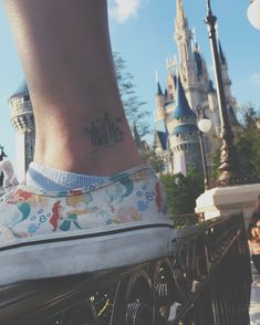 Small Disney Castle Tattoo, Disney tattto, small Disney tattoo, Disney castle tattoo