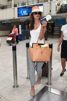 Victoria's Secret model Alessandra Ambrosio shows how to travel in style on Memorial Day and beyond.