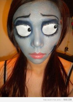 Halloween Makeup Freak You Out? Hang out with the awesome creepy doll. This one just made us laugh so loud. Do you? Check out the makeup kit for you Halloween Makeup.