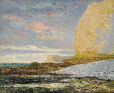 "maufra maxime seashore at yport 1900 sotheby (from <a href=""http://www.oldpainters.org/picture.php?/30161/category/13215""></a>)"