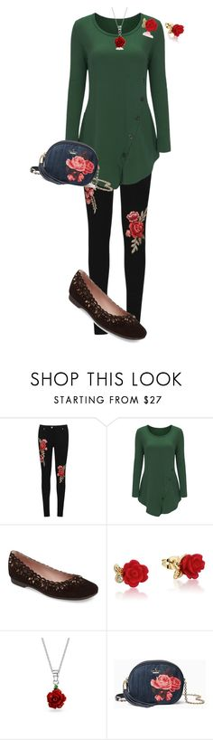 """Untitled #1514"" by pholtond on Polyvore featuring WearAll, Taryn Rose, Disney, Bling Jewelry and Kate Spade"