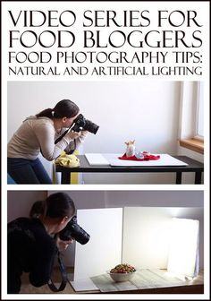 Video Series for Food Bloggers - Food Photography Tips: Natural and Artificial Lighting...hone your lighting skills to become the best food photographer you can be!