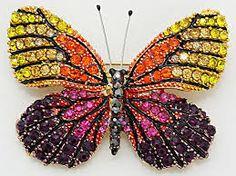 Resultado de imagen para Red Butterfly Brooch