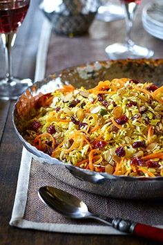 Jewelled persian rice - very good. Try with more oil next time to try and crisp a bit. Millet Recipes, Rice Recipes, Asian Recipes, Vegetarian Recipes, Cooking Recipes, Healthy Recipes, Ethnic Recipes, Middle Eastern Dishes, Middle Eastern Recipes