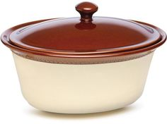 Chestnut 3.5-qt. Southern Gathering Stoneware Covered Casserole by Paula Deen