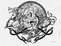 Mad Skull design, another one awaiting print