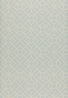 Lu'an Fretwork Aqua by F Schumacher