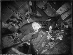 Dead men can tell tales: When the New York Times wrote about elevator operator Robert Green, left, and Jacob Jagendorf, a building engineer, right, it reported that their bodies found lying at the bottom of an elevator shaft November 24, 1915, told the story of the pair's failed robbery attempt    Read more: http://www.dailymail.co.uk/news/article-2134408/Never-seen-photos-100-years-ago-tell-vivid-story-gritty-New-York-City.html#ixzz1t0OsmvrD