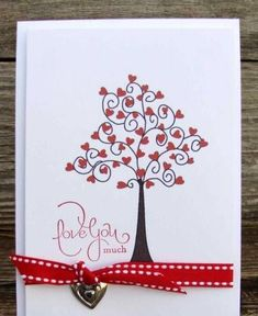 Hearts and Valentines by jimlynn - Cards and Paper Crafts at Splitcoaststampers Homemade Valentines, Day Crafts Homemade Valentine Cards, Valentine Love Cards, Valentine Crafts, Homemade Cards, Valentine Tree, Tarjetas Diy, Heart Cards, Creative Cards, Diy Cards