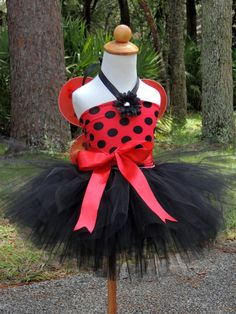 Lady Bug Costume Birthday outfit Halloween Kids by Gurliglam, $55.00