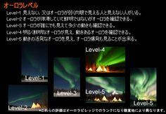 Aurora Borealis described in Japanese, for all the visitors from Japan