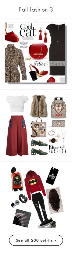 """""""Fall fashion 3"""" by yvonneperry36 ❤ liked on Polyvore featuring ELLIOTT LAUREN, Charlotte Olympia, Dorothy Perkins, Angela Valentine Handbags, Call Of The Wild, felinefashion, Delpozo, Helmut Lang, Gucci and Monica Vinader"""