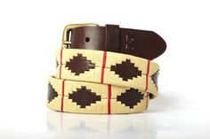 Men leather belts from Argentina / Beige