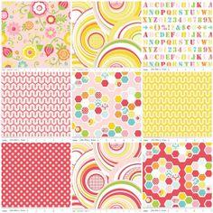 Baby Girl Crib Bedding - Bumperless,  Riley Blake Simply Sweet