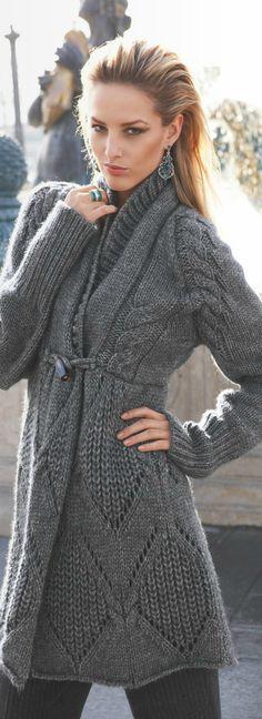 Beautiful, grey knit sweater. Knit Sweater #2dayslook #KnitSweater #susan257892 #sunayildirim #sasssjane www.2dayslook.com