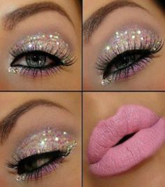 Glitter Make-up. Love it but would change the pink